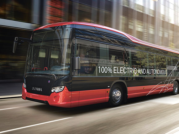 Bild eines 100% Electric and Automotive Busses.