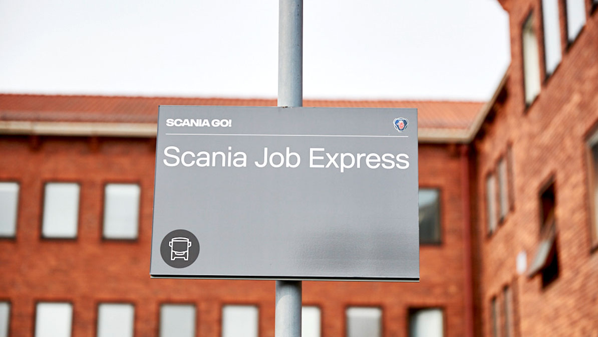 The Scania Job Express connects Scania's Södertälje campus and Stockholm